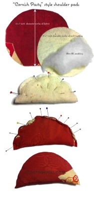 Pictorial on how to make shoulder pads for 40's style dresses
