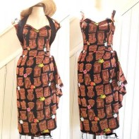 photo of a tiki style dress made by VeraVenus