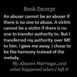 An abuser cannot be an abuser if there is no one to abuse. A victim cannot be a victim if there is no one to transfer their authority over themselves to.