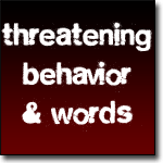 threatening behavior and words are tools of verbal abuse