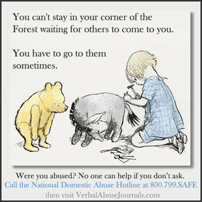 winnie the pooh quote encouraging abuse sufferer to reach out for help
