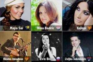 Predstavnici zemalja bivse Jugoslavije na Evroviziji 2012