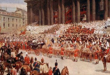 Proslava Dijamantskog jubileja 22. juna 1897. godine i dolazak kraljice Viktorije ispred katedrale St. Paul u Londonu