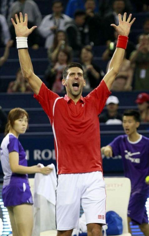 Novak Djokovic u Sangaju 2012.