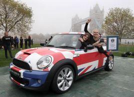 Događaj je organizovan ispred londonskog Tauer bridža na Svetski dan Ginisovih rekorda