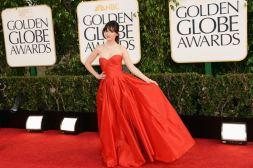 Zooey Deschanel najbolje odevena, Golden Globe Awards 2013