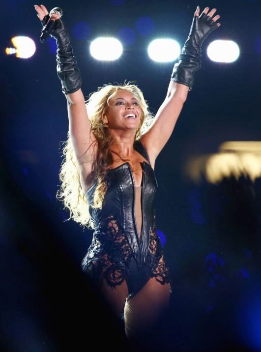 Beyonce performs during the Pepsi Super Bowl XLVII