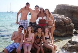 Verbalisti na plazi na Ibici