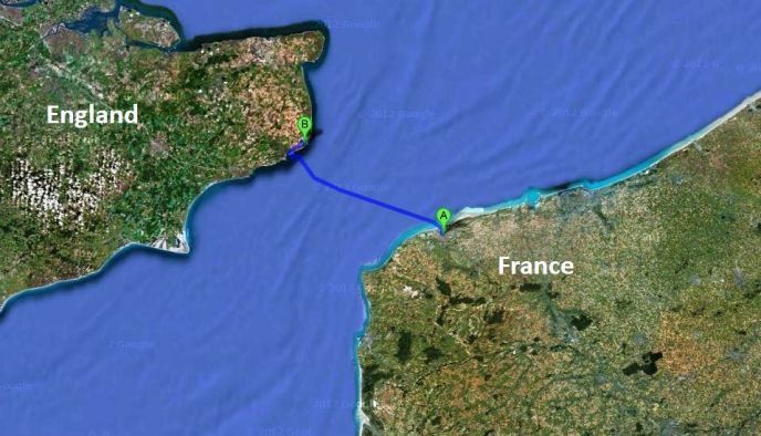 the closest point between France and England