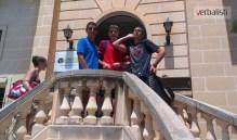 In front of school