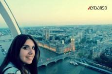 Mina i pogled (njen) s nebeske voznje, London Eye