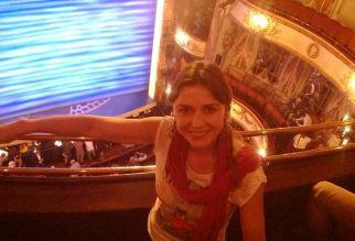 at the theatre, Mamma Mia