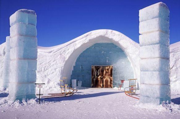 Ulaz u Ice Hotel u Svedskoj