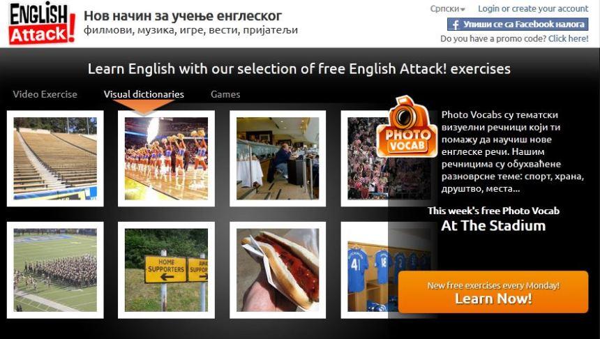 Engleski foto recnik - na sportskim terenima