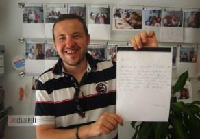 Nikola je bio odusevljen skolom pa je napisao i jedno zahvalno pismo