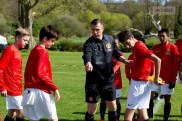 Coach Kevin O'Connell instructs the players