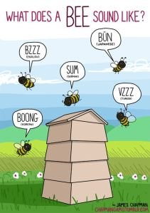 What does a bee sound like