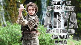 187 girls named Arya