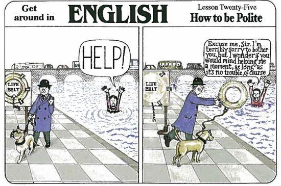 Britanska kultura - učtivost, Verbalisti