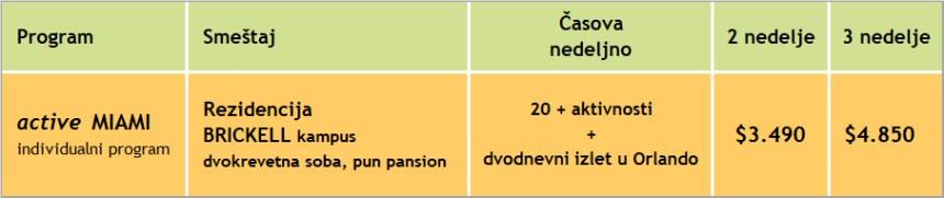 Cene kursa engleskog active Miami u Majamiju, skola OHLA, 2020, Verbalisti