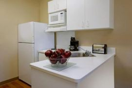 Each room comes equipped with its own kitchenette