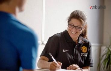 Profesorka engleskog u skoli fudbala Manchester United