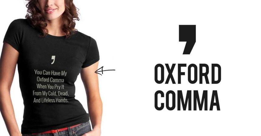 Oxfordski zarez ima svoje majice pa čak i pesmu