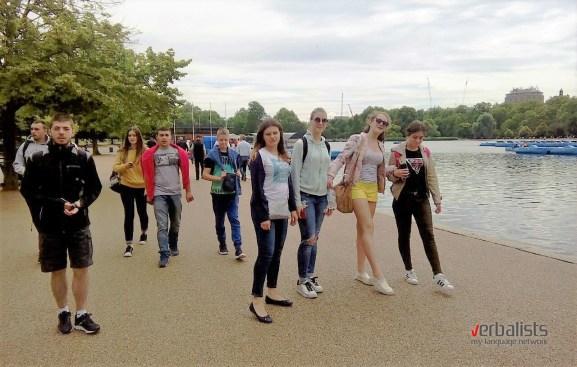 Polaznici jezičke mreže u Hyde Parku