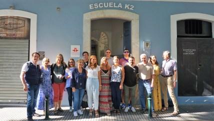 Fam trip and visiting K2 Cadiz Spanish language school in Cadiz.