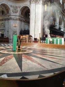 At London St Pauls Cathedral