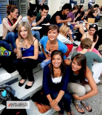 Students of the language network Verbalisti in Milan