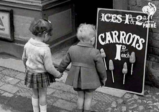 Carrots on sticks