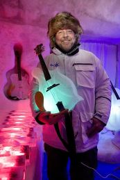 Tim Linhart is the original ice artist who founded the Ice Music project in Lule, Sweden
