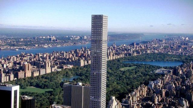 The tower at 432 Park Avenue in Midtown Manhattan is the tallest residential building in New York