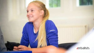 Young learner and tennis player of the Verbalists Language Network