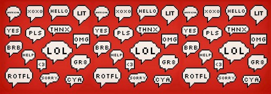 Internet language and SMS texting abbreviations