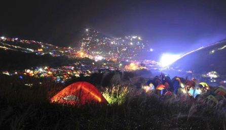 Camp festival in China at night
