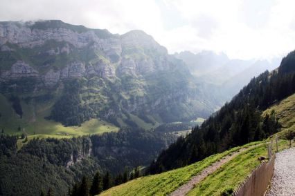 Walk from Wasserauen up to the Ebenalp, spectacular views of this fascinating hiking area