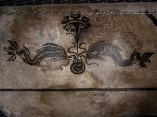 Mosaico di Bevagna -Delfini e polipo