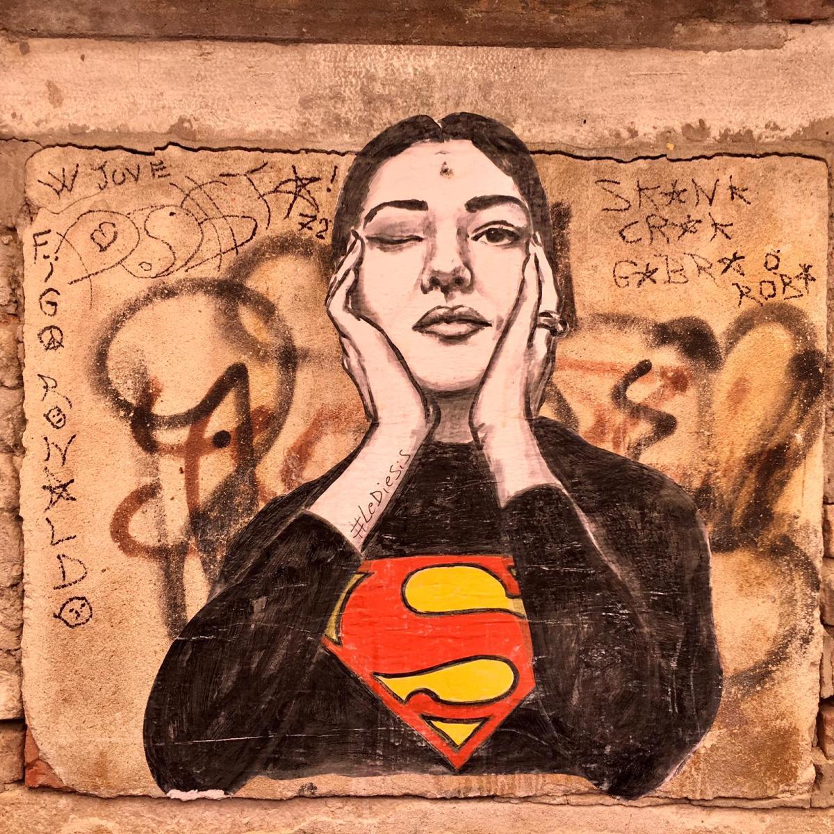 Graffiti of Woman in Venice