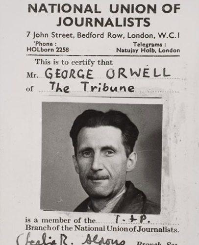 George Orwell journalist ID