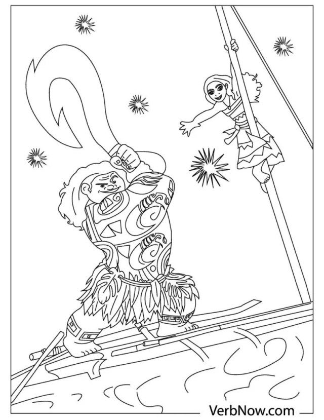 Free Moana Coloring Pages for Download (Printable PDF) - VerbNow