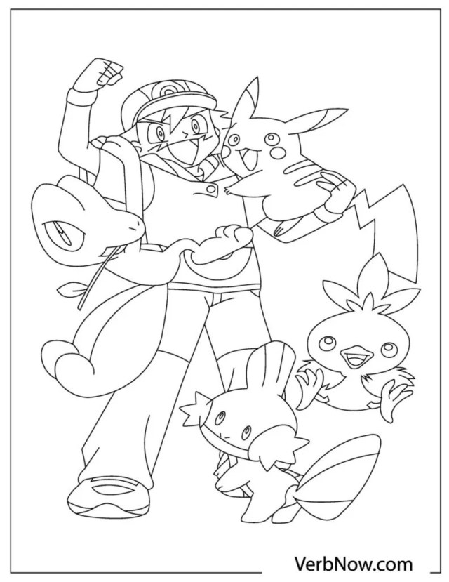 Free POKEMON Coloring Pages for Download (PDF) - VerbNow