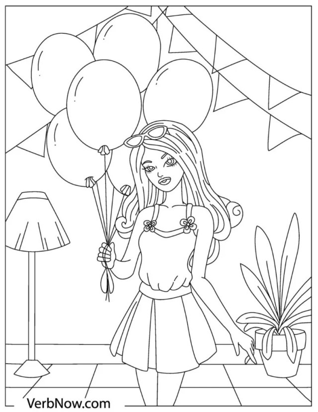 Free BARBIE Coloring Pages for Download (Printable PDF)