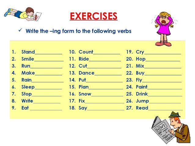 Be Verb Ing Worksheet - Verbs Worksheet