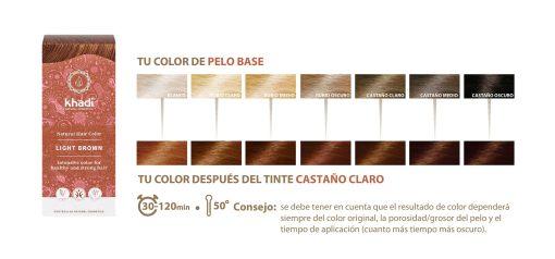 Herbal Color Khadi Castaño Claro. 100 Gr
