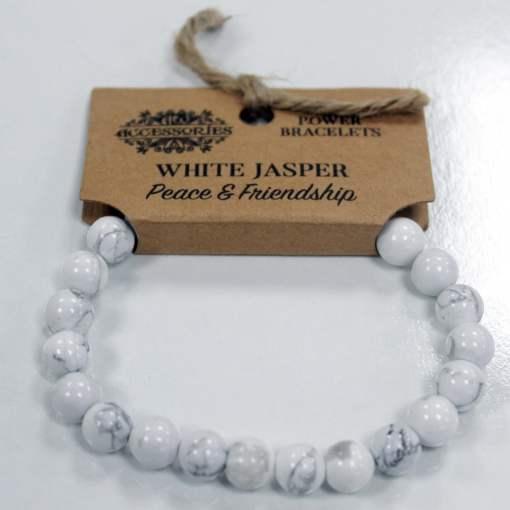 Brazalete de Energía - Jaspe blanco