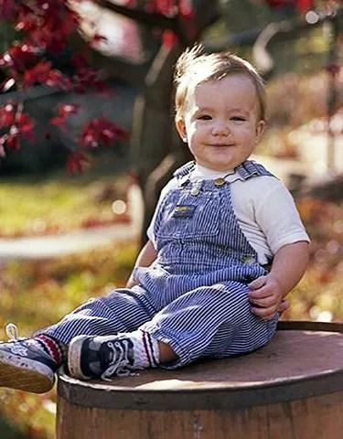 El pequeño Joel antes del accidente