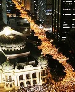 Concentración este martes frente la catedral da Sé en São Paulo / EFE