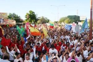 En Punto Fijo los marchantes a viva voz se levantaron para clamar a Dios por Venezuela / GL